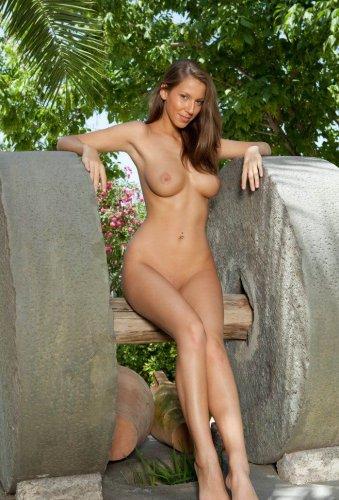Красивая Lizzie на лужайке