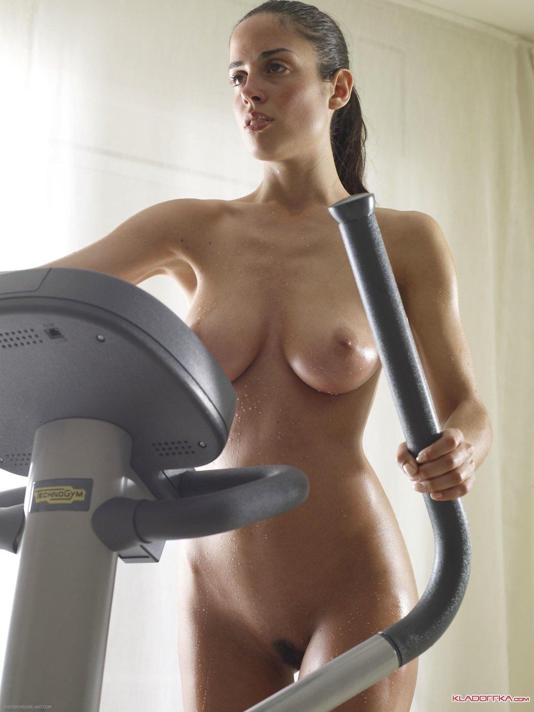 Nude sexy treadmill