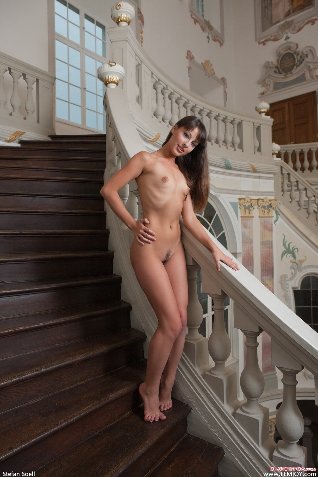 Ariel rebel nude on the stairs