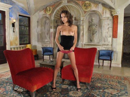 Горячая фотомодель Malena Morgan раздвигает вагину и демонстрирует анус крупным планом