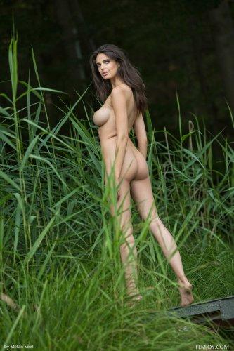 Идеальная и сексуальная Jasmine Andreas голая на мостике