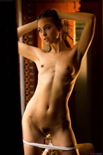 Стройняшка Riley Reid голая в комнате